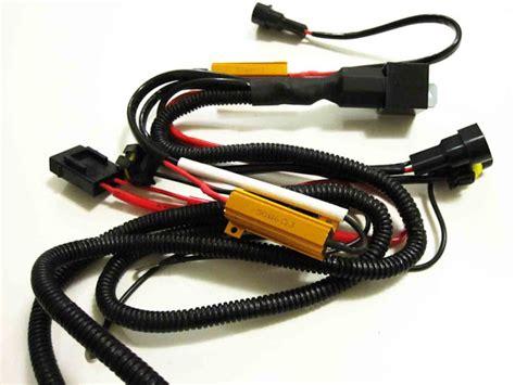 hid relay resistor harness universal hid conversion kit single beam relay resistor harness