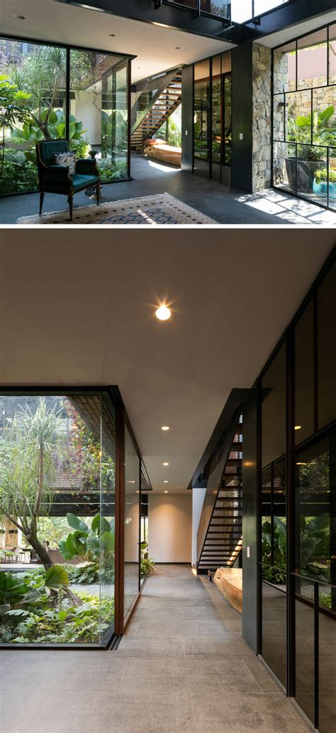 contemporary house  mexico  surrounded  nature