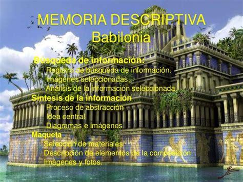giardini pensili di babilonia scuola primaria memoria descriptiva babilonia