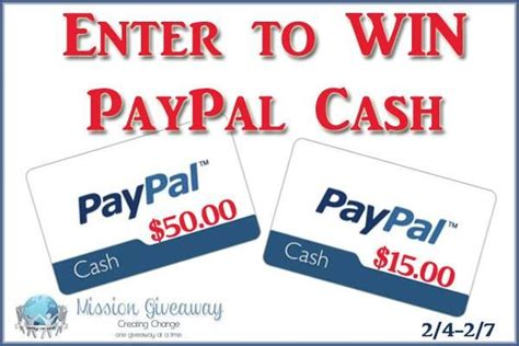 Win Paypal Money - mission giveaway win 65 paypal cash frugal fanatic