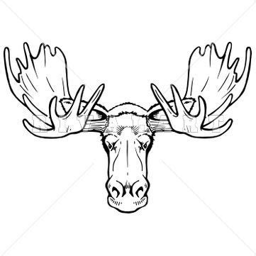 explore tac tatts moose head drawing and more moose clip