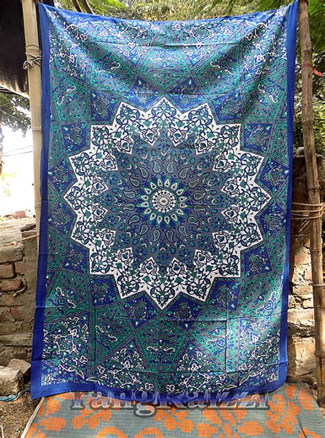 Indie Bedroom Decor twin indian cotton psychedelic star mandala tapestry wall