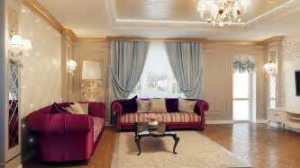 interior styles of homes regal purple blue living room decor interior design ideas