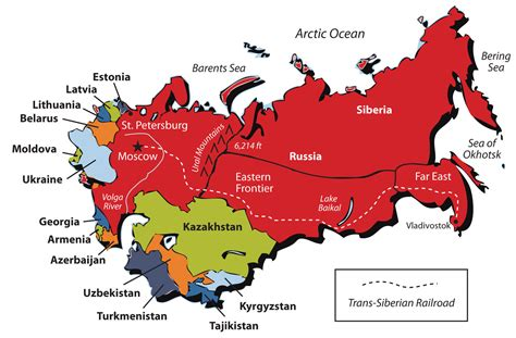 nations of the former ussr map quiz russia