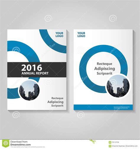 circle brochure template circle blue vector annual report leaflet brochure flyer