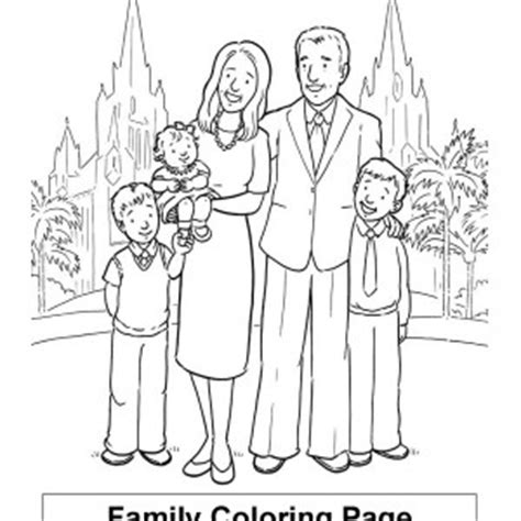member of family praying together coloring page member of