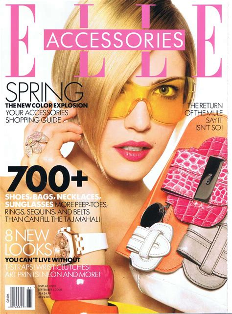 Is Elles September 2008 Cover by Covers Of Accessories 958 2008 Magazines The Fmd