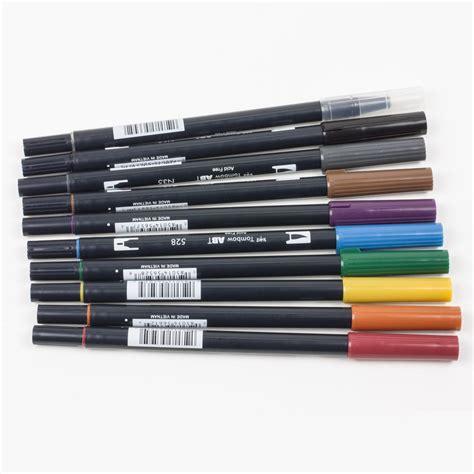 Tombow Dual Brush Bright Palette Set Tombow Dual Brush Set 10 tombow dual brush pens muted palette color set kit kraft