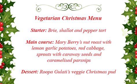 christmas menu ideas goodtoknow