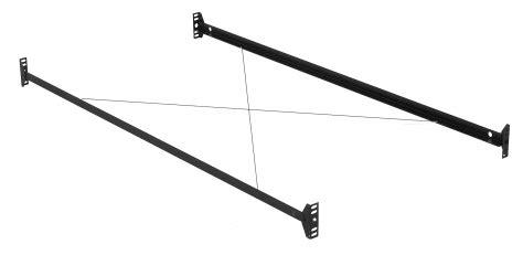 bolt on bed rails leggett platt bolt on bed rails for twin full bed frame