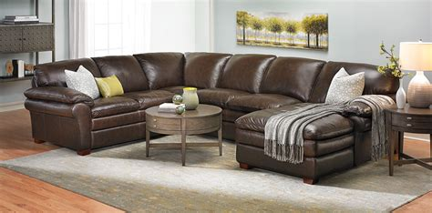 haynes furniture winfield leather sectional sofa