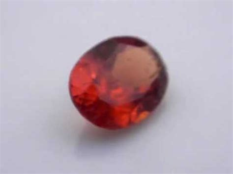 brownish orange hessonite garnet garhes0001 sri lanka