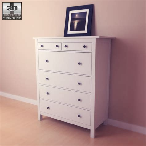 Hemnes Chest Of Drawers by Hemnes Chest Of 6 Drawers 3d Model Humster3d