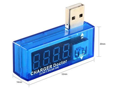 Usb Doctor Charger Volt Er usb mini charger doctor current test tool voltage test tool volt reader blue