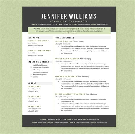 Resume Sles For Creative Professionals Professional Resume Template Pkg Resume Templates On Creative Market