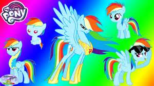 pony transforms rainbow dash baby princess coloring surprise egg toy collector