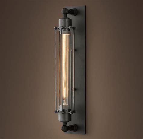 restoration hardware lighting sconces grand edison caged sconce