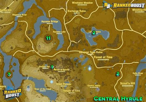legend of zelda map bosses zelda breath of the wild boss locations guide hidden