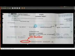 Dd Cancellation Letter Format For Sbh Bank How To Find Dd Number From Demand Draft For Sbh