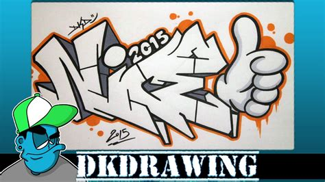 draw graffiti letters nice step  step youtube