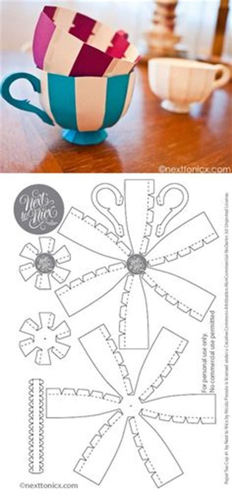 Origami Tea Cup - patrones patterns templates on templates