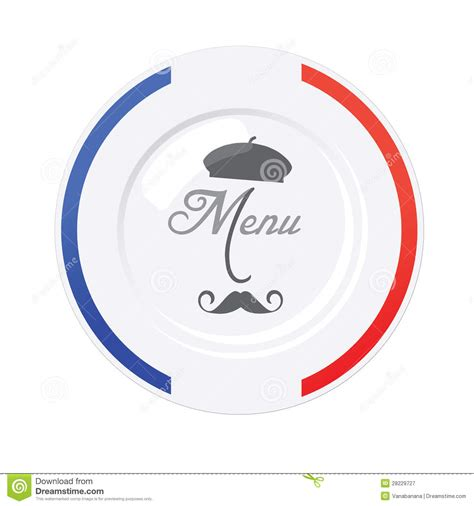 french restaurant menu design template stock vector