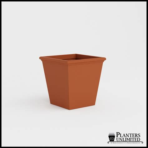Tapered Square Planter by Tuscana Tapered Fiberglass Commercial Planter 30in L X
