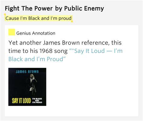lyrics cause i about my cause i m black and i m proud fight the power lyrics meaning