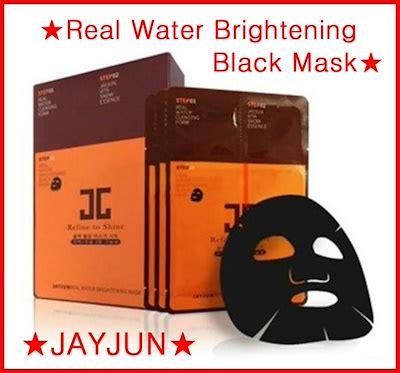 qoo10 jayjun jayjun real water brightening black mask 25ml 10ea refine t skin care