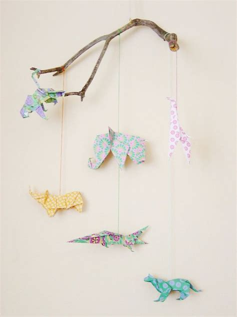 Origami Mobile Kit - mobile origami animals landscape 39 50 via