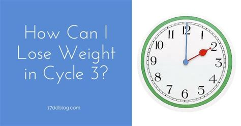 can i lose weight by in my room how can i lose weight in cycle 3 17 day diet