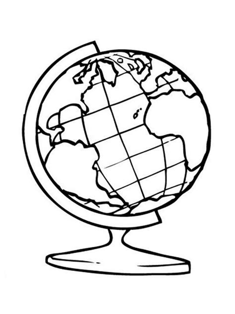 coloring page of a globe globe coloring pages to download and print for free