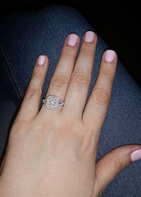 cushion cut halo with plain band show me your halo rings with princess cut or cushion cut