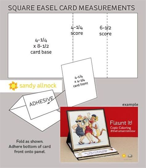 flaunt cards templates square easel card measurements allnock