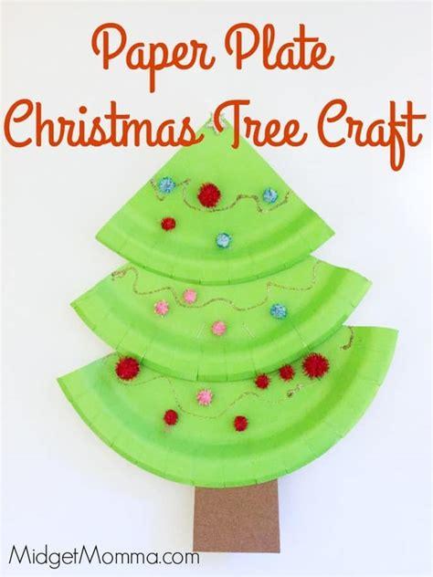 paper plate christmas trees midgetmomma