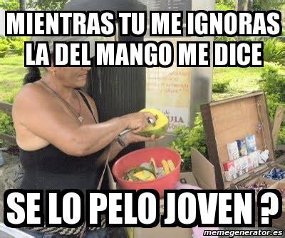 imagenes memes mientras tu me ignoras meme personalizado mientras tu me ignoras la del mango