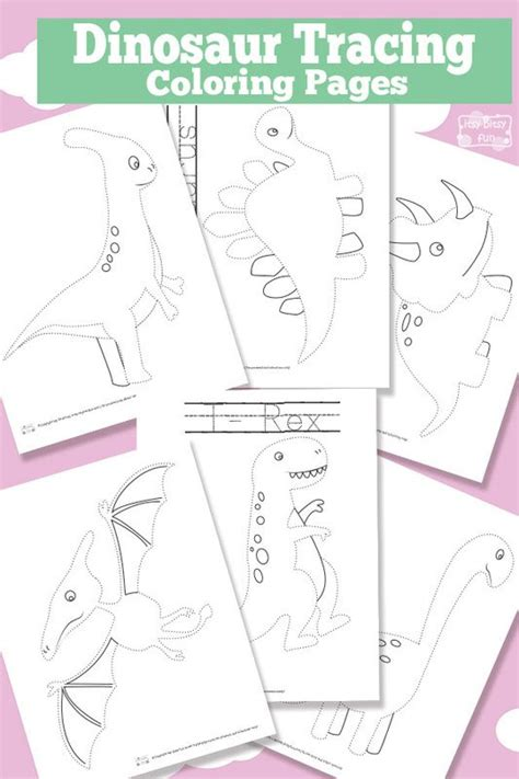 dinosaur tracing coloring pages  printable