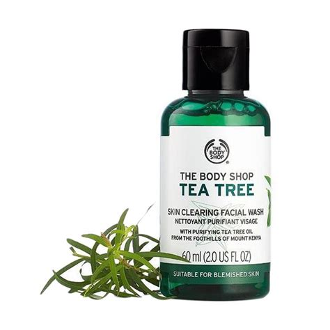 jual the shop tea tree skin clearing wash 60