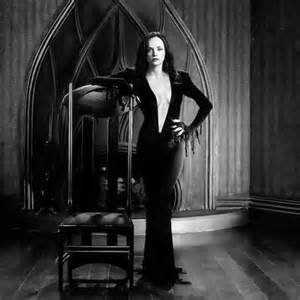 Christina ricci as morticia addams major cleavage but is the jaw