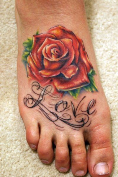 foot tattoo rose oploz tattoos for