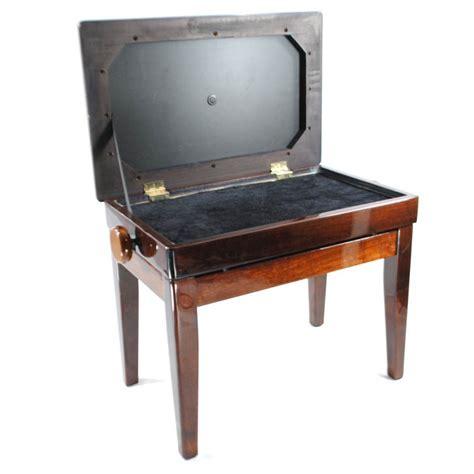 upright bench frederick piano bench adjustable upright walnut polish ebay