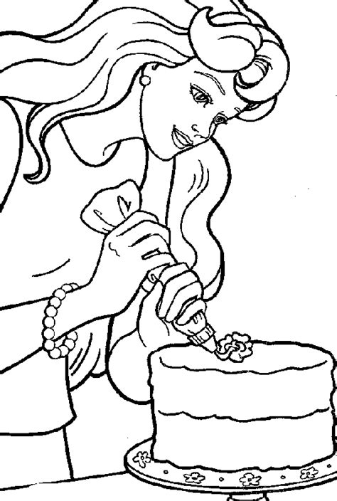 disney coloring pages barbie birthday cake decorating