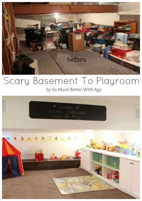before after from ceiling space to playroom from basement before and after so much better with age