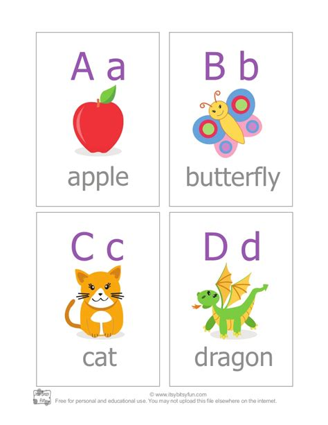 Free Flash Card Template For Mac by Abc Alphabet Flash Cards