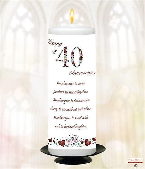 Naturally Irish   Numbers Happy 40th Anniversary 9inch