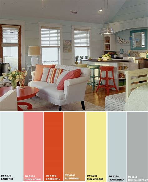 Interior Home Color Schemes by Beach House Color Schemes Interior Joy Studio Design