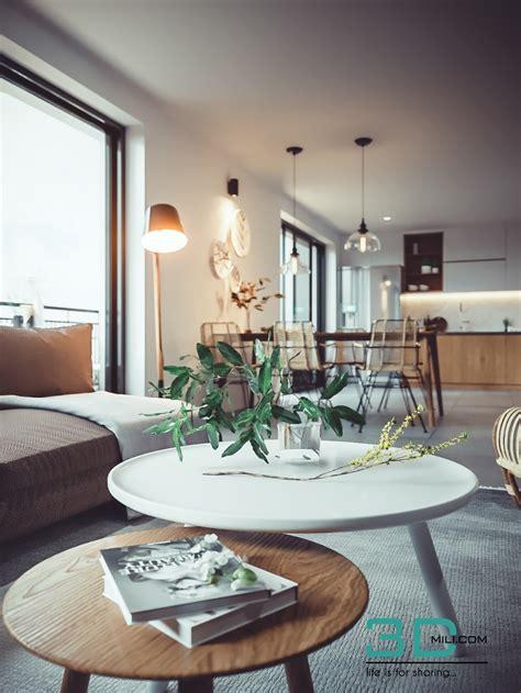 Free 3D Scene   Living  Kitchen Room   Doan Nguyen   3D