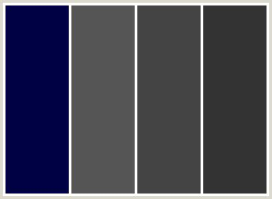blue and grey color scheme colorcombo75 with hex colors 000044 555555 444444 333333