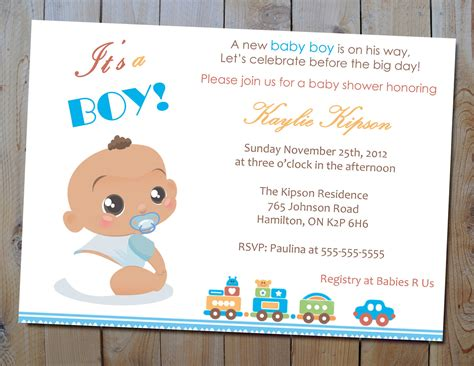 For Baby Shower by Baby Shower Invitations For Boys