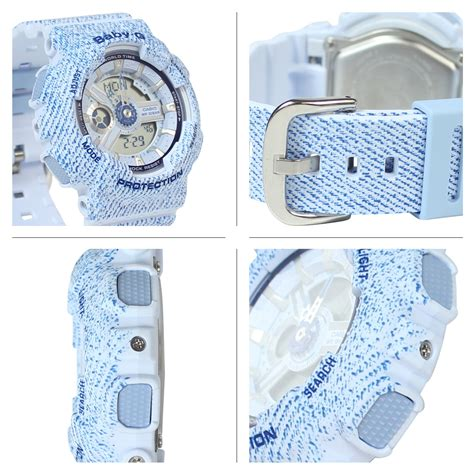 Casio Baby G Ba 110dc 2a2dr Water Resistant 100m Resin Band allsports rakuten global market casio casio baby g watches ba 110dc 2 a3jf denim d color baby